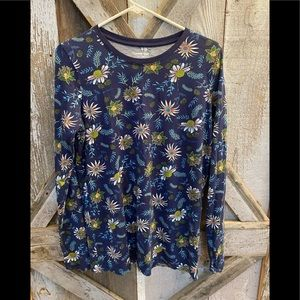 Lands End sunflower print top